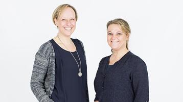 Ergotherapeuten Marion Jansen-vd Heijning en Mariska Winsser-de Jong